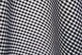 Sprawdź gingham białe czarne Zdjęcia Stock