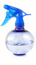 Spray bottle of blue on a white background Stock Image
