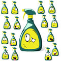 Spray bottle cartoon Stock Photos