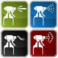 Spray bottle icons an image of Royalty Free Stock Image