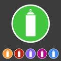 Spray can color Icon icon flat web sign symbol logo label