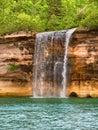 Spray Falls and Lake Superior