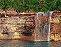 Spray Falls Munising Michigan Royalty Free Stock Photography