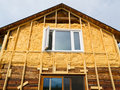 Spray foam insulation conserves energy Royalty Free Stock Photos