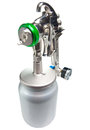 Spray gun with a green nozzle Royalty Free Stock Photos
