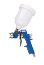 Spray gun isolated over a white background Royalty Free Stock Photo