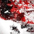 Spray paint abstract splatter spill Royalty Free Stock Photo