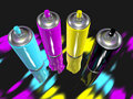 Spray paint cmyk Royalty Free Stock Images