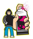 Spray painting illustration Stock Photo