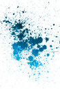 Sprayed blue paint Royalty Free Stock Photography
