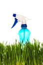 Sprayer in the grass isolated on white background Royalty Free Stock Photo