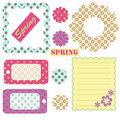 Spring - accessory sheet Royalty Free Stock Photo