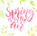 Spring Is In The Air Watercolo...