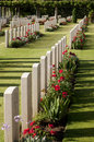 Spring at Anzio  war cemetery. Royalty Free Stock Photography