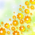 Spring background with chamomiles Royalty Free Stock Image