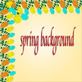Spring Background For Design. Eps 10 vector illusion