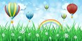 Spring Background With Hot Air...