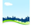 Spring background with London skyline. Stock Photography