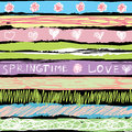 Spring background in sorbet colors Stock Image