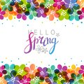 Spring background with vibrant flowers