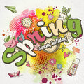 Spring Background With Waterco...