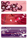 Spring backgrounds set Royalty Free Stock Photo