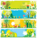 Spring banners with copy-space Royalty Free Stock Photo