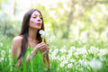 Spring beauty girl outdoors perfect skin Royalty Free Stock Photos