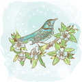 Spring Bird Illustration Stock Image