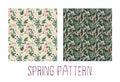 Spring blooming pattern