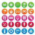 Spring break cute icon set the Royalty Free Stock Photo