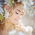 Spring bride portrait Stock Photo