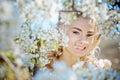 Spring bride portrait Royalty Free Stock Photo