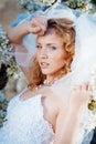 Spring bride portrait Stock Photo