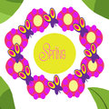 Spring butterflies collage seasonal illustration Stock Images