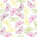 Spring butterly seamless pattern on white background Royalty Free Stock Images