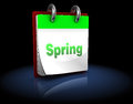 Spring calendar d illustration of with page Royalty Free Stock Image