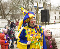 Spring carnival in russia moscow march maslenitsa pancake week shrovetide of farewell winter and meeting moscow Royalty Free Stock Images