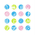 Spring circle document icons Royalty Free Stock Photography
