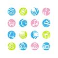 Spring circle e-shop icons Royalty Free Stock Photo