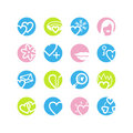 Spring circle love icons Royalty Free Stock Image