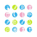 Spring circle software icons Stock Photography