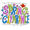 Spring clearance message an image of a Royalty Free Stock Image
