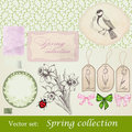 Spring collection Stock Photography