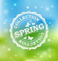 Spring collection stamp vector illustration Royalty Free Stock Photos