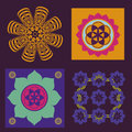 Spring color floral mandalas Stock Images