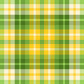 Spring colored green and yellow plaid Royalty Free Stock Photography