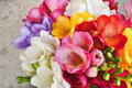 Spring colorful flowers bouquet macro Stock Image