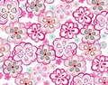 Spring colorful seamless floral pattern a tropical or summer flower Royalty Free Stock Photo