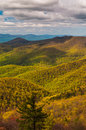 Spring colors in the Appalachian Mountains in Shenandoah National Park, Virginia. Royalty Free Stock Photo